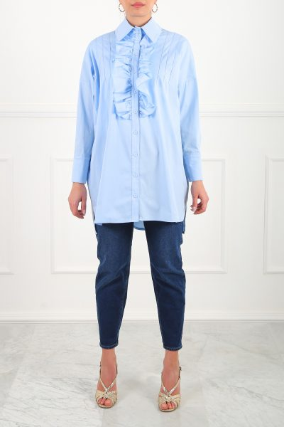 Oh My Shirtdress-Blue