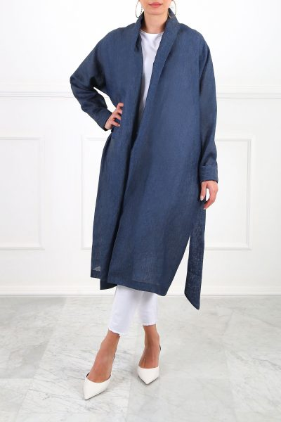 Ray Linen Navy Cardigan