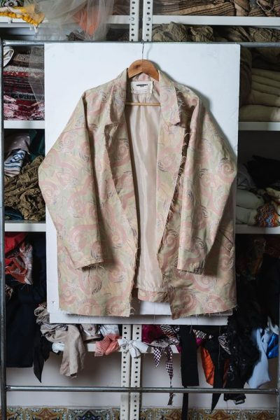 Oversized Jacquard Suit Jacket