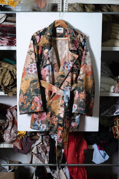 Layered Jacquard Trench Coat