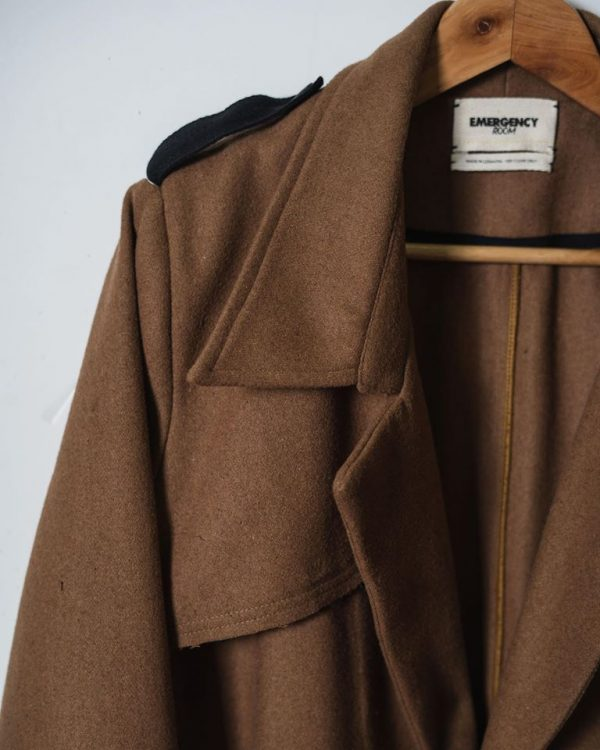 Layered Wool Trench Coat