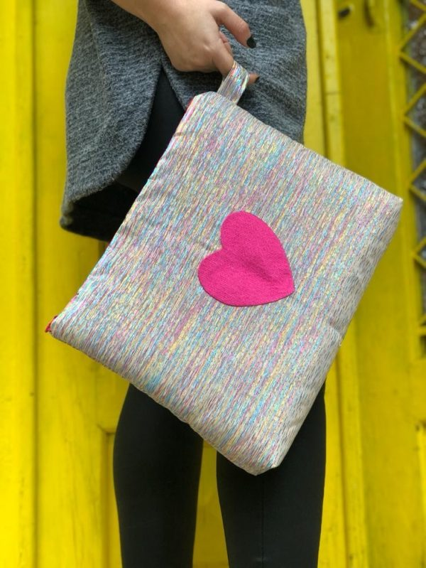 Pink Heart Pouch