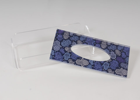 Blue Fatma Tissue Box