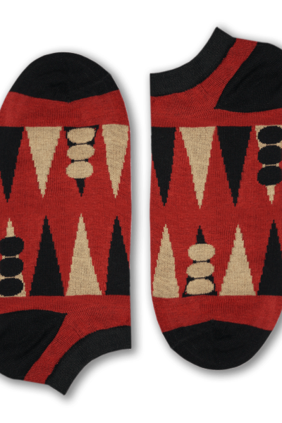 Backgammon Short Socks