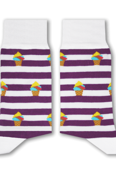 Booza Purple Socks