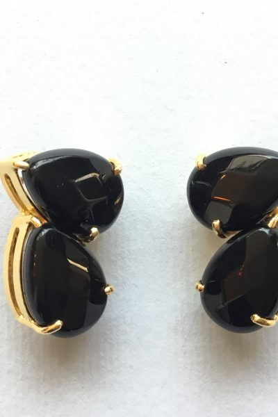 Bo Ptibonbon Black Earrings