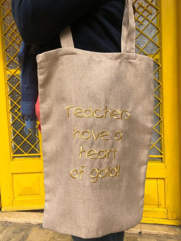Teachers Have A Heart Of Gold Tote Bag