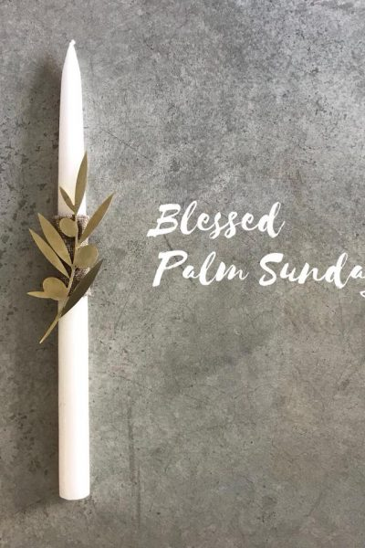 Palm Sunday Candle – Olive Branch