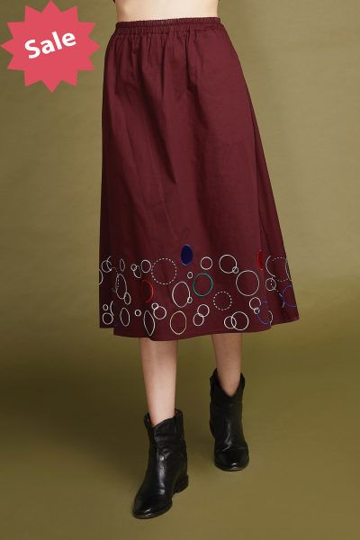 Bubbling Cotton Skirt