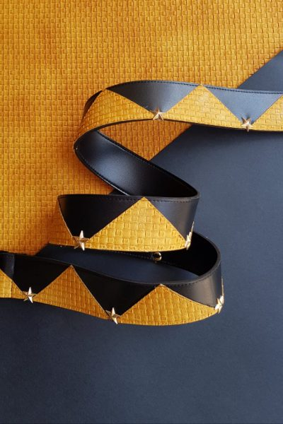 Studded Yellow Strap