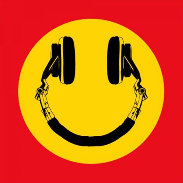 Happy Headphones Sticker , Three Monkeys Concepts