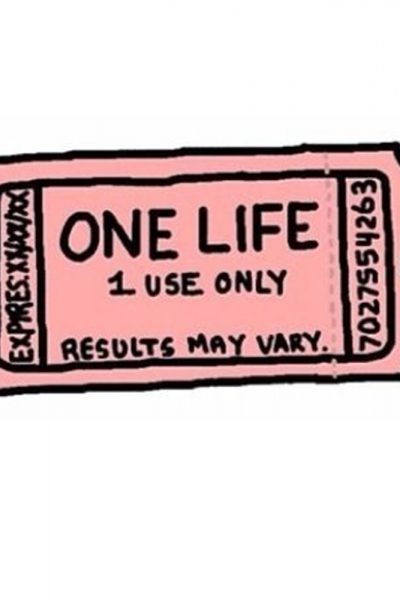 One Life Ticket Sticker, Three Monkeys Concepts