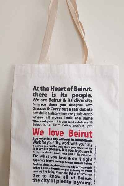 We Love Beirut Tote Bag