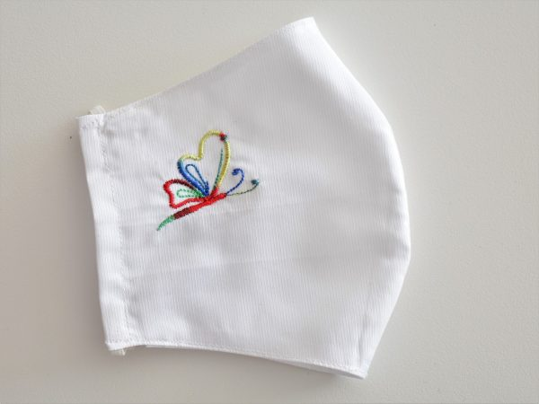 Embroidered Butterfly Mask