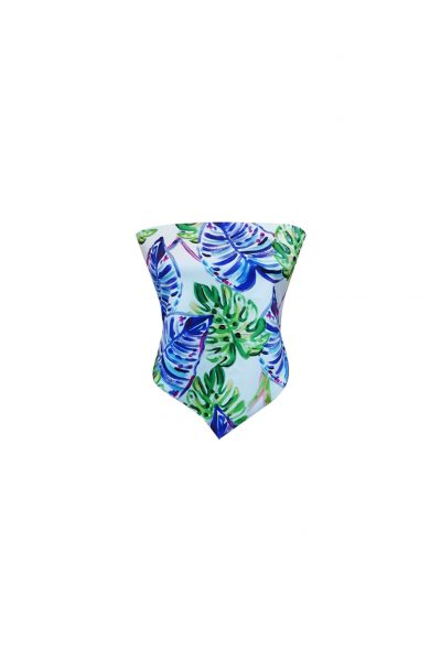 FOULARD TOP LEAVES