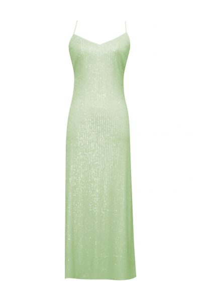 MOONFLOWER DRESS SEQ GREEN
