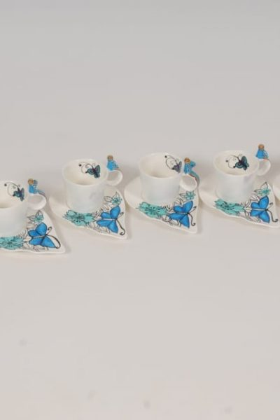 birds coffee cups set of 6