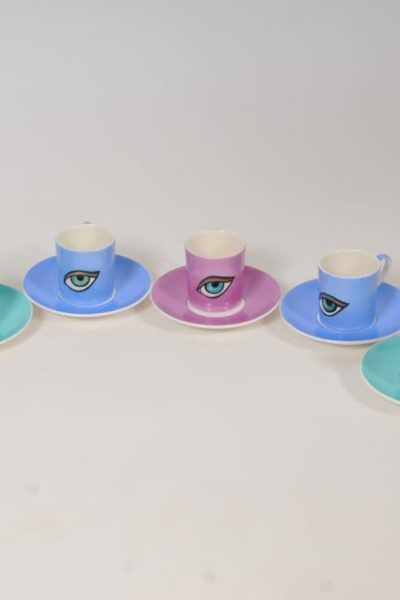 The Eye coffee cups,set of 6