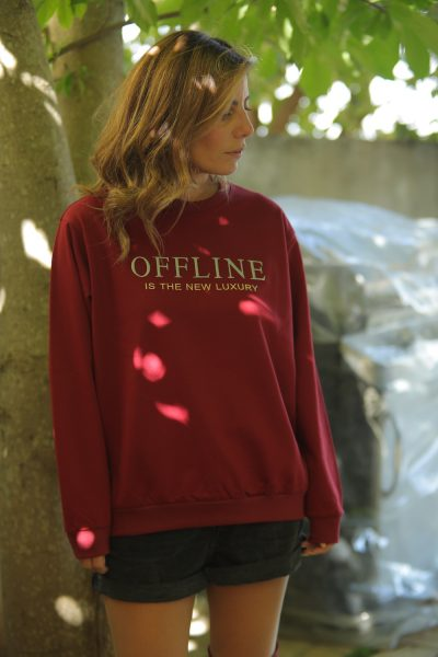 Offline is the new luxury Sweater