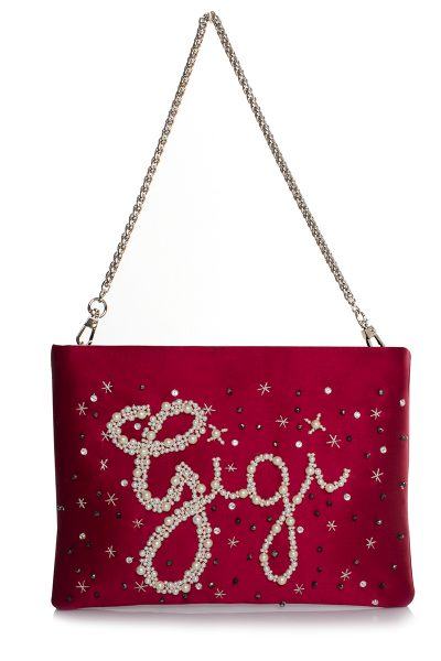 CUSTOMISED SATIN RED MINI POUCH