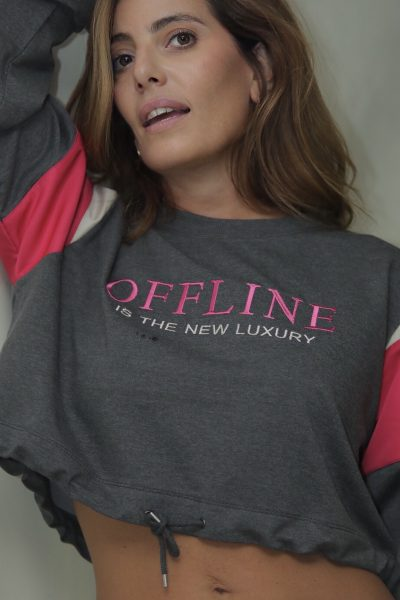 Offline is the new luxury Short Sweater