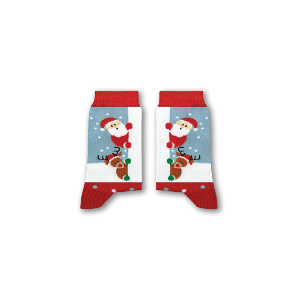 Peek-a-Boo Santa Socks (Kids)