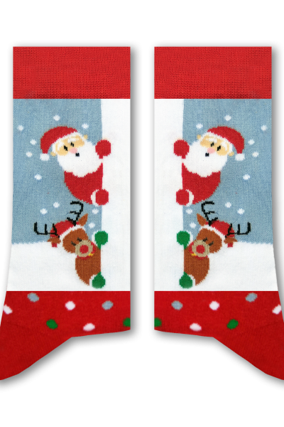 Peek-a-Boo Adult Santa Socks
