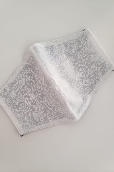 Paisley Print white on white