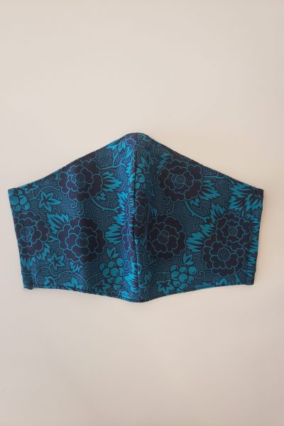 Turquoise Floral Mask