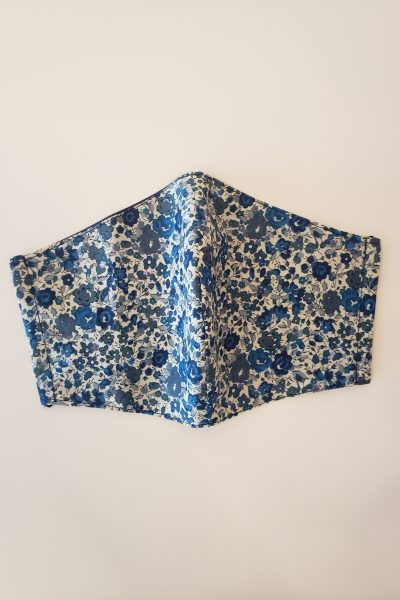 Blue Floral Fabric Mask