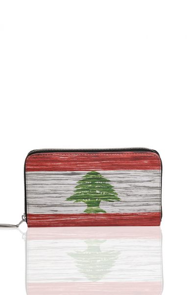 Printed Wallet – Lebanese Flag