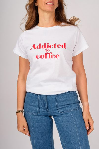 ADDICTED T-SHIRT TO COFFEE