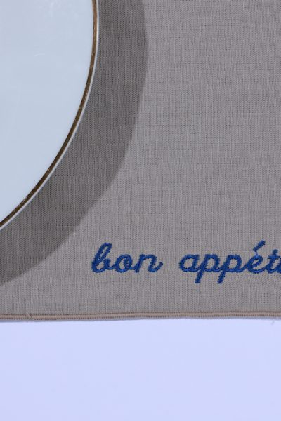 CUSTOMIZABLE  TABLE PLACEMATS WITH EMBROIDERY SET OF 4 PIECES