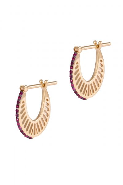 Flat Colored Ray Hoops-Size 1