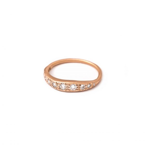 Twiggy Pink Gold Ring 12s
