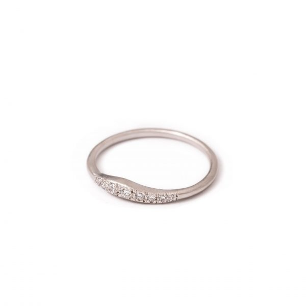 Twiggy White Gold Ring 8s