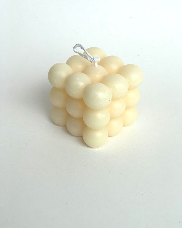 Hand-Poured Cream Bubbly Feeling Bubbly Candle
