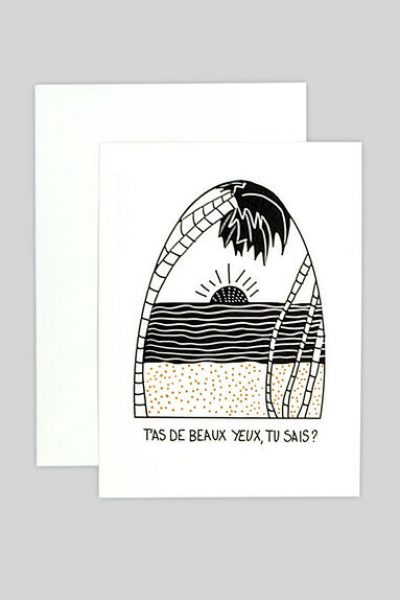 Beaux Yeux Greeting Card