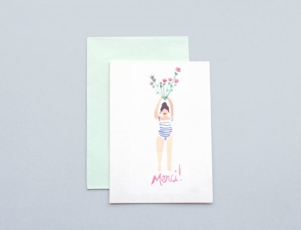 Thank you Flowers Greeting Cards