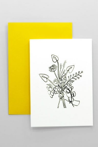 Wild Flowers Bouquet Greeting Card
