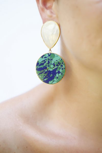 Azurite and Mother of Pearl