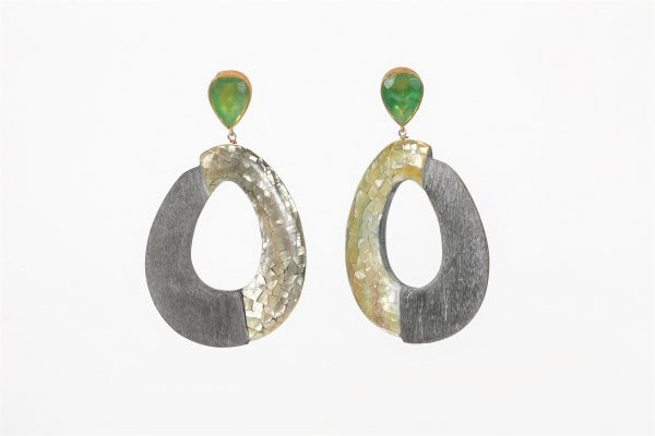 Green Agate with Buffalo Horn