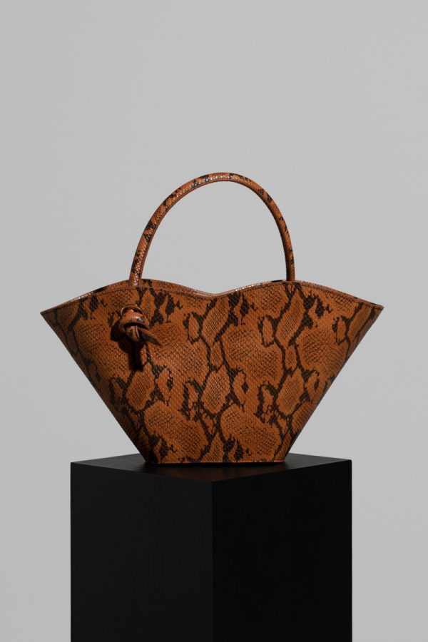 Small Cella Bag in Snake Embossed Leather