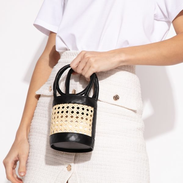 Mini Kyklos Leather Bag in Black Chair