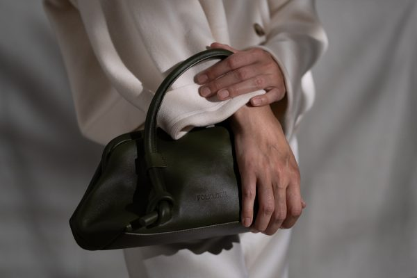 Money Leather Pouch in Army Green