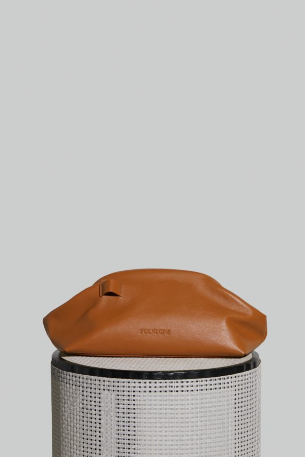 Money Leather Pouch in Camel