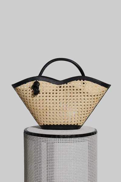 Small Cella Leather Bag in Black Chair