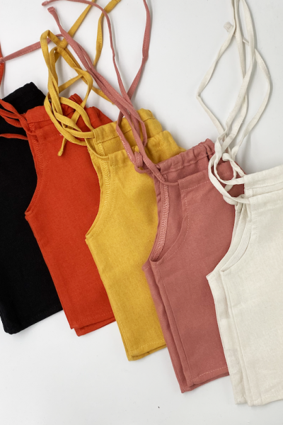 Linen Cropped Top