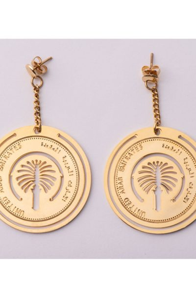 Palm Coin Earring