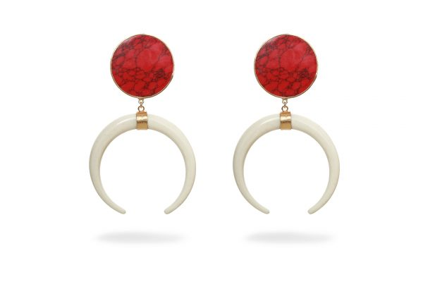 Red Howlite and Resin